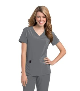 9015 Motivate V-Neck Top by Urbane Scrubs-Urbane