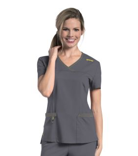 9045 Melissa Surplice Top by Urbane Scrubs-Urbane