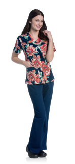 Womens V-Neck With Top Load Pockets