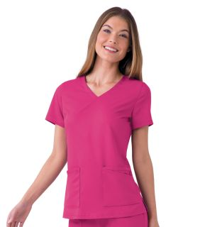 """Chelsea"" Soft V-Neck Tunic-"