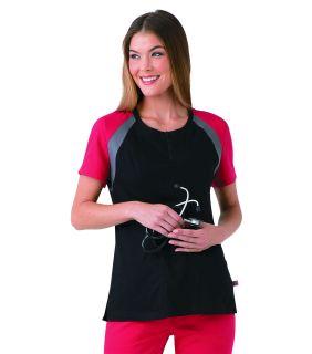 DEAL - 9069 Urbane Ultimate Colorblock Top With Zip Front-