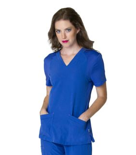 Miracle - Smitten V Neck With Knit Panels-Smitten