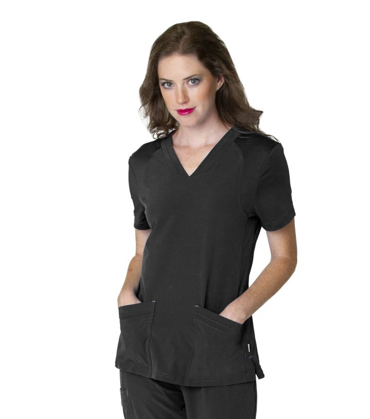 Womens Miracle V Neck With Knit Panels-Smitten