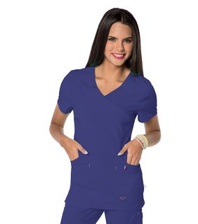 Glam - Womens Smitten Surplice Tunic Top-Smitten
