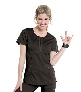 Diva Zip Front Womens Tunic-