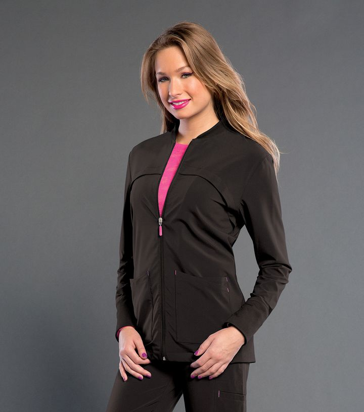S303008 Tour - Smitten Zip Front Jacket With Rib Knit Detail