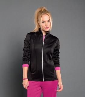 Cranked - Womens Smitten Ponte Zip Front Jacket