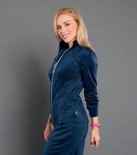 Cranked - Womens Smitten Ponte Zip Front Jacket-Smitten
