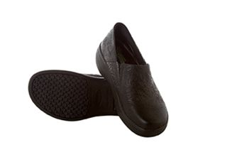 Leather Slip Resistant Clog