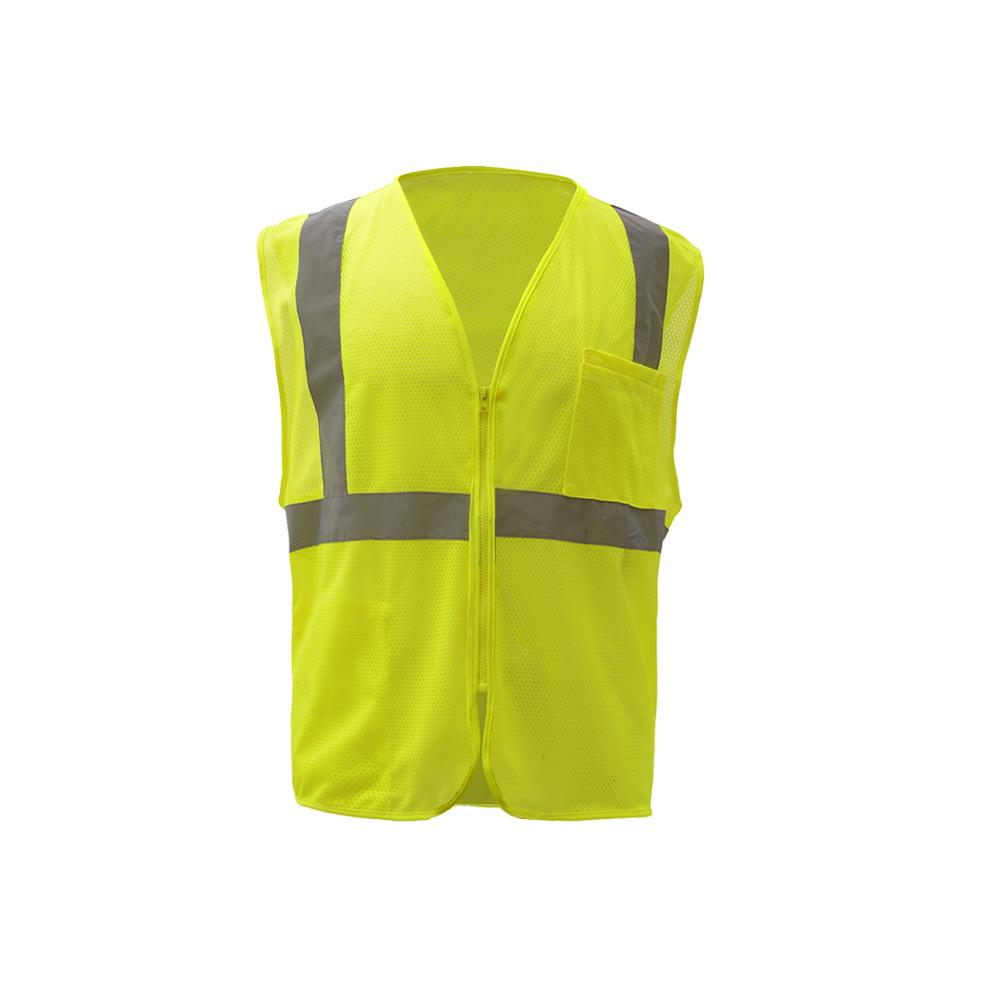 Hi-Vis ANSI Class 2 Mesh Zipper Safety Vest-GSS Safety