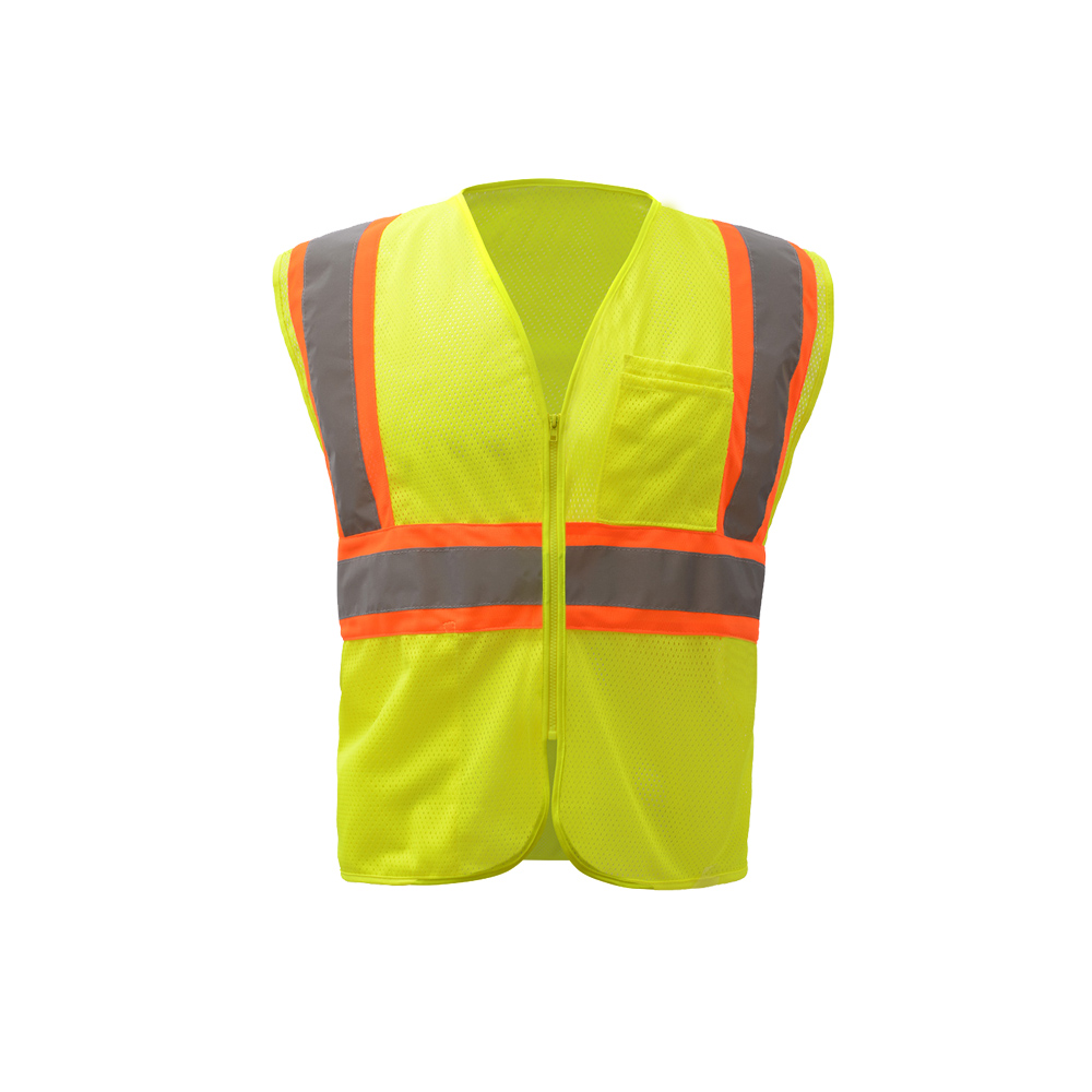 Hi-Vis ANSI Class 2 Two Tone Mesh Zipper Safety Vest-GSS Safety