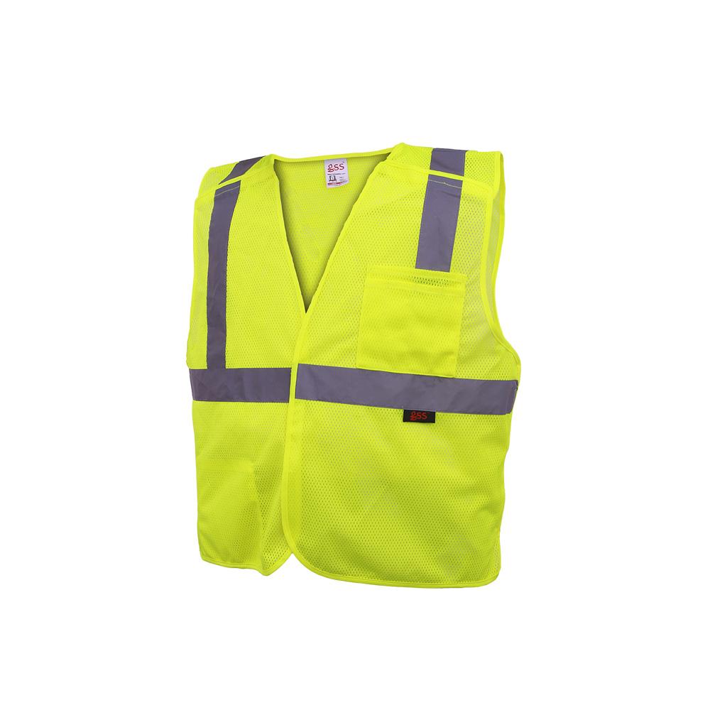 Hi-Vis ANSI Class 2 5-Point Breakaway Safety Vest-GSS Safety