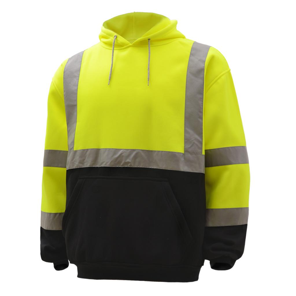 Hi-Vis ANSI Class 3 Pullover Fleece Sweatshirt w/Black Bottom-GSS Safety