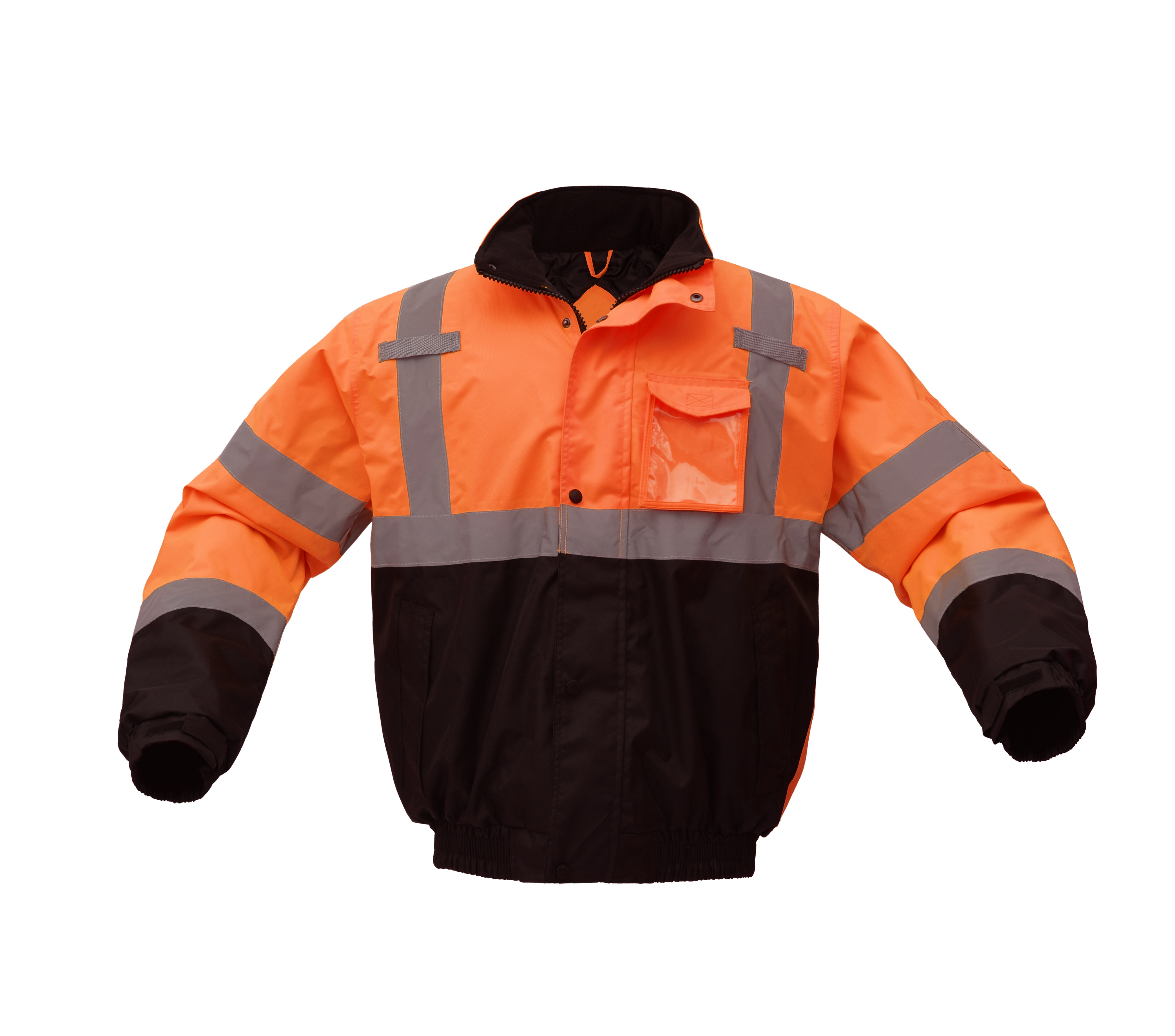 Hi-Vis Orange Two-Tone Class 3 Waterproof Quilt-lined Bomber Safety Jacket-GSS Safety