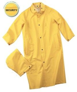 Security Raincoat w/SECURITY on Back-