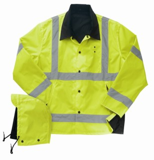 Liberty Uniforms Public Safety Outerwear Reversible ANSI 3 Rain jacket-Liberty Uniforms