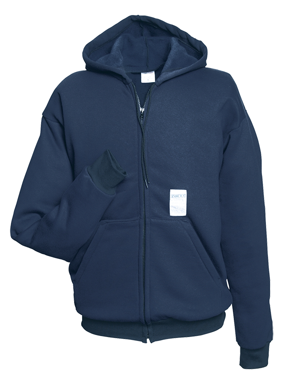 Ultrasoft Navy Full Zip Hooded Sweatshirt-Renegade FR
