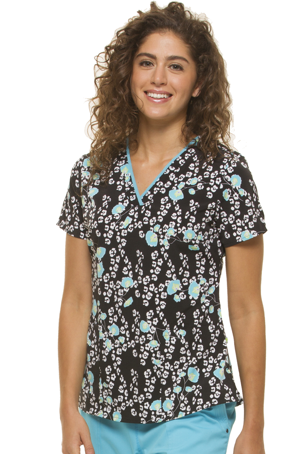 Amanda V-Neck Poppy-Ular Scrub Top-Healing Hands Scrubs