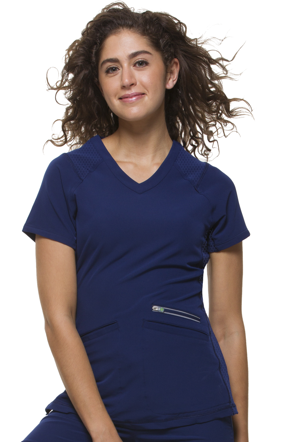 Serena V-Neck Solid Scrub Top-Healing Hands Scrubs