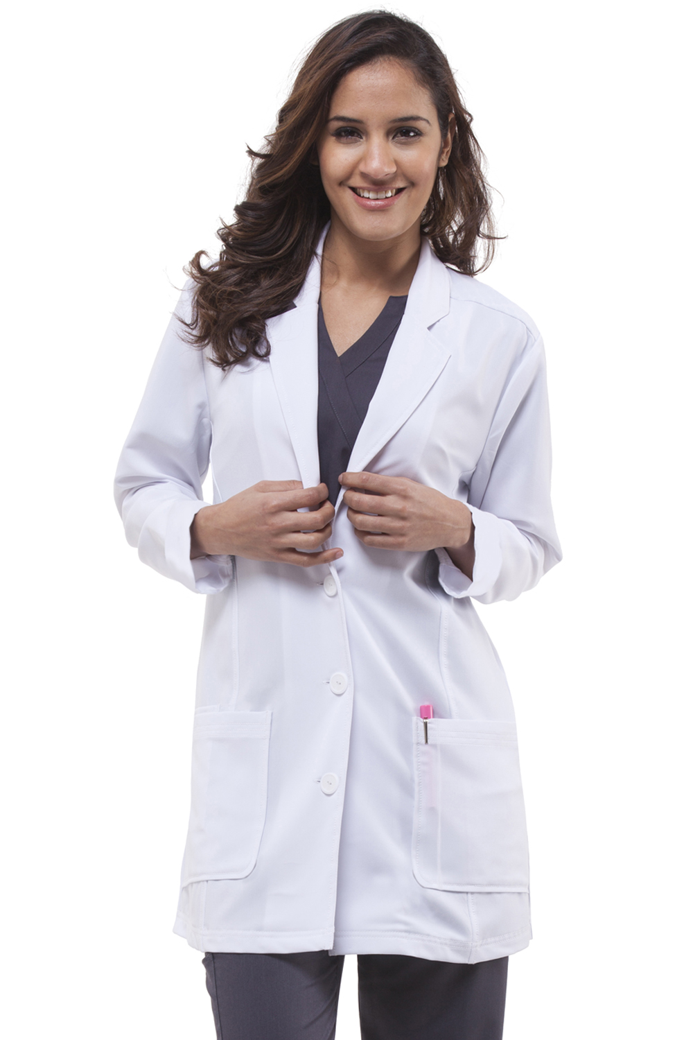 "Faith Notched Collar 31"" Lab Coat -Healing Hands Scrubs"