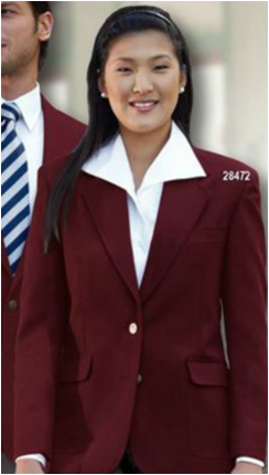 FEMALE  POLY 2-BTN BLAZER-SU - SECURITY