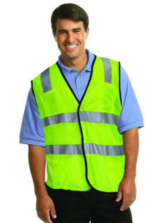 UNISEX SFTY YELLOW ANSI CLASS2 CERT VEST-SU - SECURITY