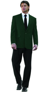 MENS HUNTER GREEN POLY 2-BTN BLAZER-SU - SECURITY