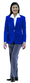 LADIES ROYAL POLY 2-BTN BLAZER-SU - SECURITY
