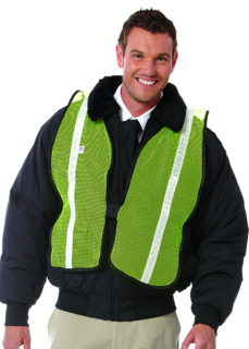 UNISEX LIME SAFETY VEST/SILVER TAPE-SU - SECURITY