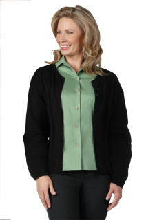 LADIES BLACK CARDIGAN SWEATER-SU - SECURITY