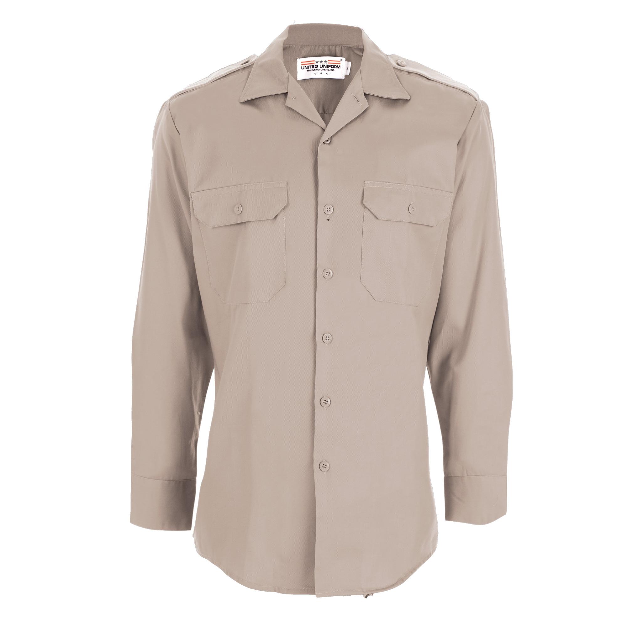 Men's - United Uniform Mfr. Line Duty Mini-Rip Stop Stretch L/S Shirts-