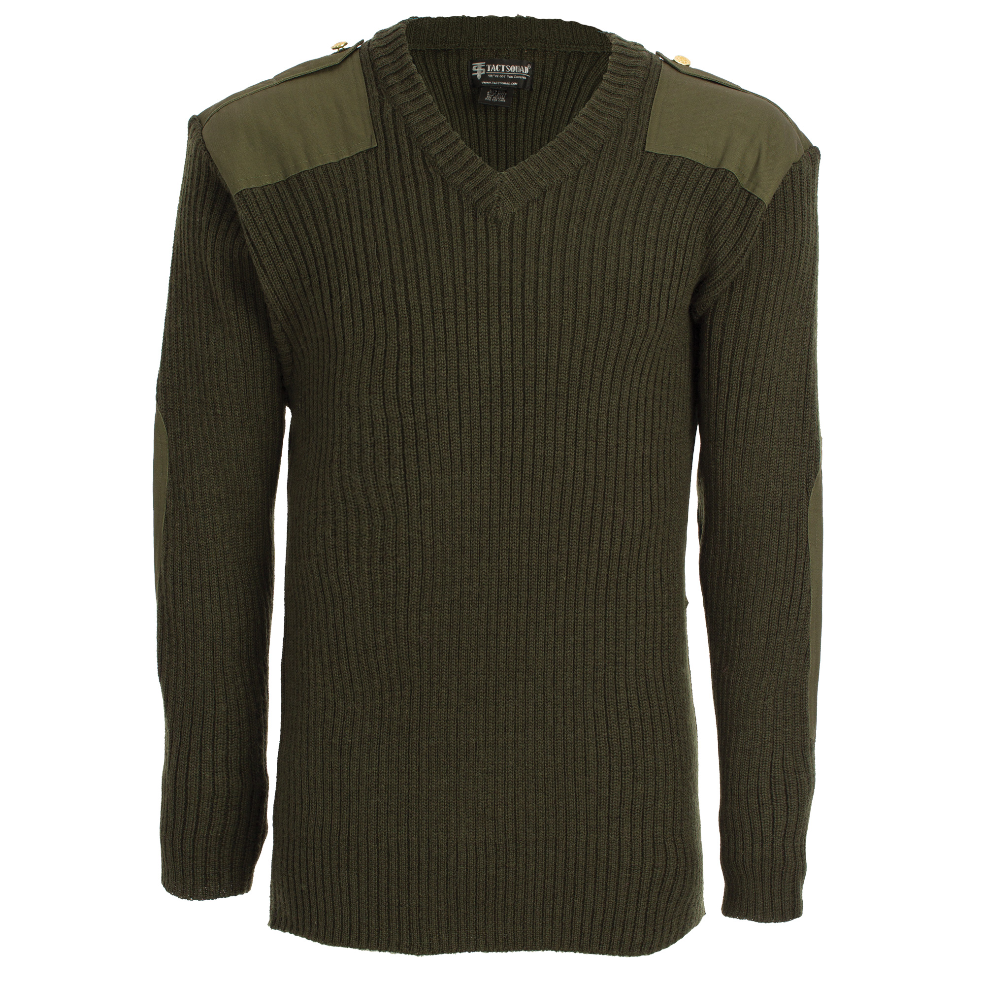 Wool Commando V-neck Sweater-Tactsquad