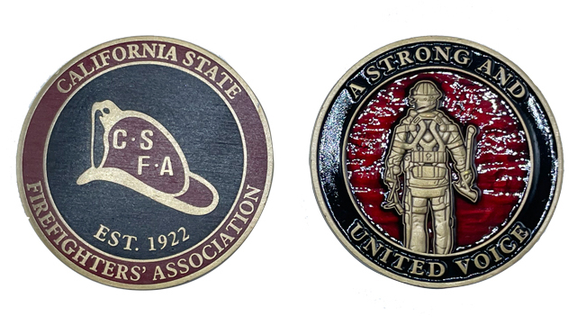 Challenge Coins - CSFA A Strong and United Voice-