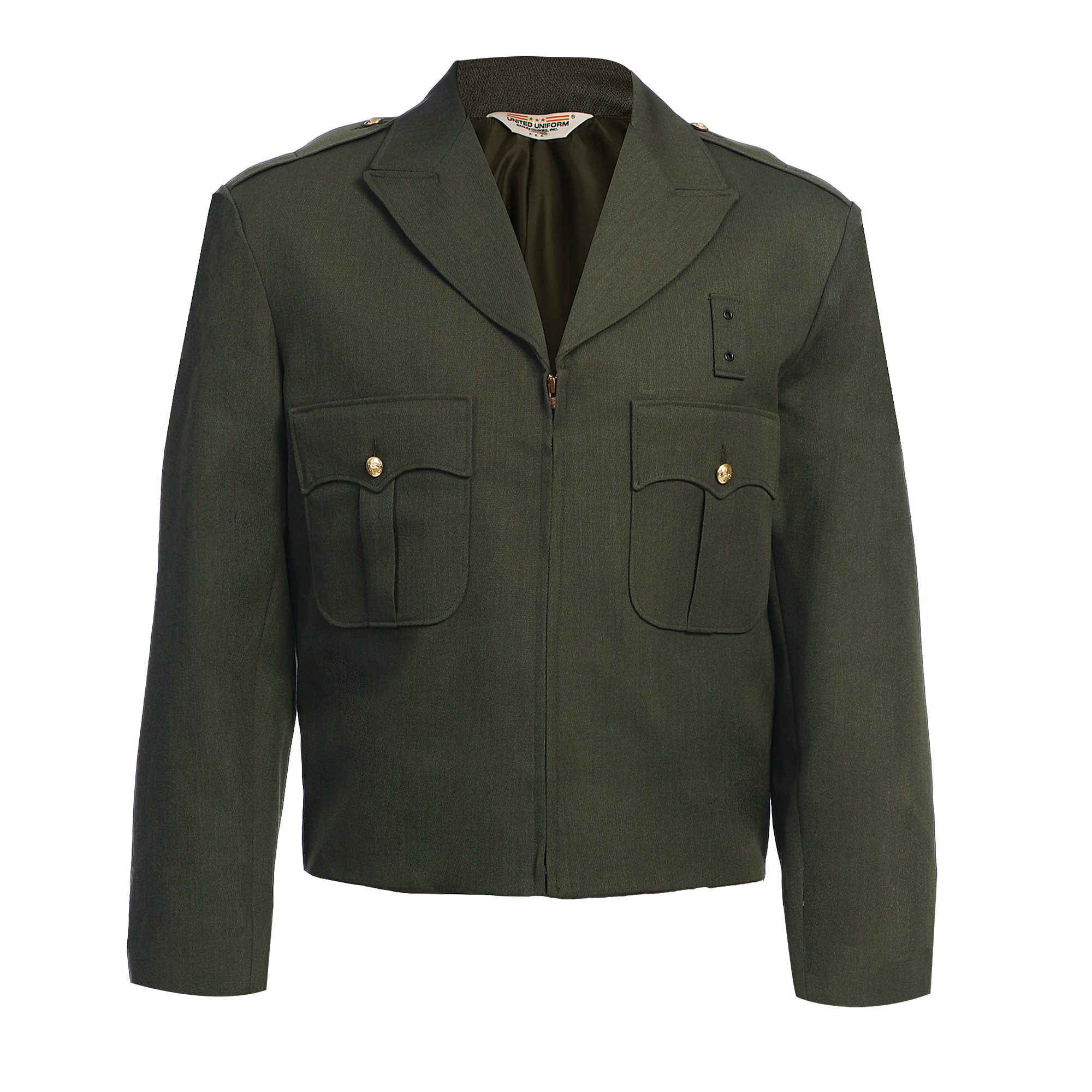 Zippered Front Ike Jacket - Serge Weave - CDCR Specifications-United Uniform