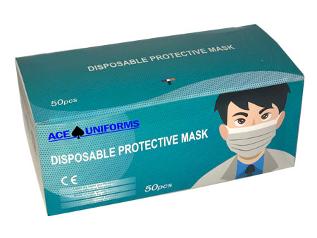 Disposable Masks 50 Count-Ace Uniform