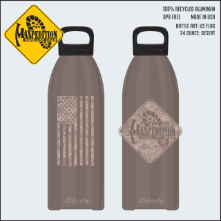 "MAXPEDITION 24oz Water Bottle ""FLAG""-Maxpedition"