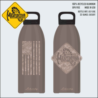 "MAXPEDITION 32oz Water Bottle ""FLAG""-Maxpedition"