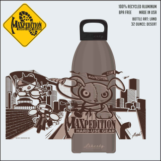 "MAXPEDITION 32oz Water Bottle ""LAND""-Maxpedition"