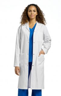 2068S Labcoat with snap button-White Cross