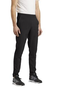 224 Elastic waistband pant-White Cross