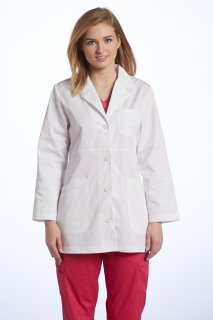 2412 Labcoat Stretch Twill-White Cross