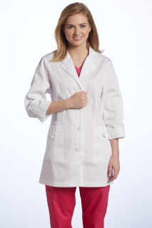 2490 Labcoat Stretch Twill-White Cross