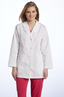 2491 Labcoat Stretch Twill-White Cross