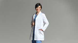 2681 Labcoat-White Cross