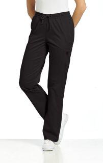 308 Elastic Waist Pant-White Cross