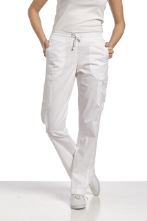 308 Elastic Waist Pant-White Cross
