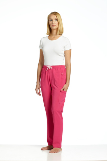 309 Elastic Waist Pant-White Cross