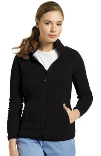 448 Polar Fleece Zip Jacket-White Cross