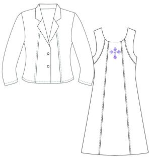 9021 Dress Spandex-White Cross