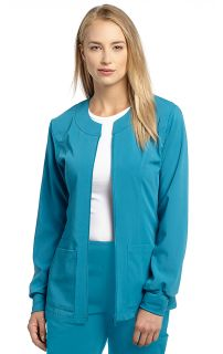 945 Stretch Zip Jacket-White Cross